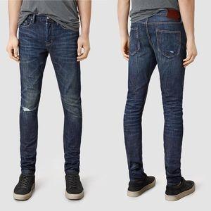 All Saints Pistol Fit Skinny Jeans 32 Waist Kanaba